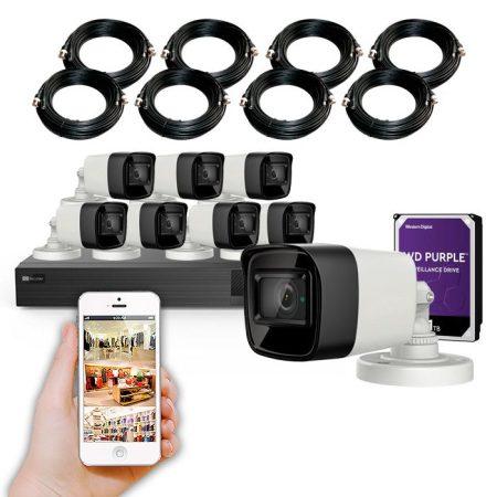 Kit 8 cámaras de vigilancia 4K y grabador con disco duro KIT ALMACÉN