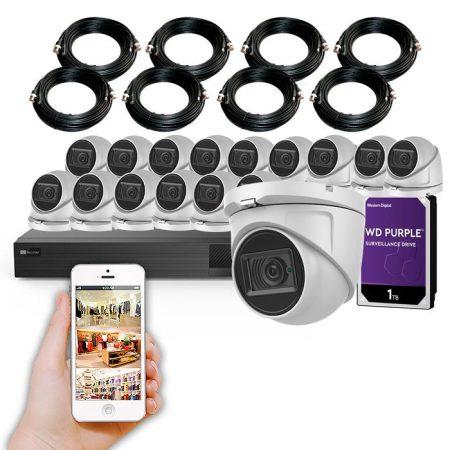 Kit de 16 cámaras de seguridad 4K y grabador con disco duro KIT SUPERBAZAR