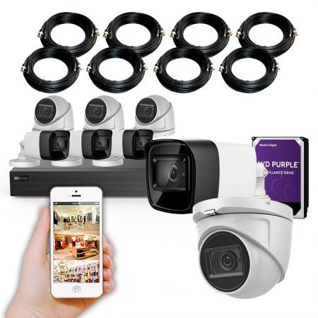 Kit de cámaras de vigilancia con grabador 4K de 8 canales KIT GRAN LOCAL