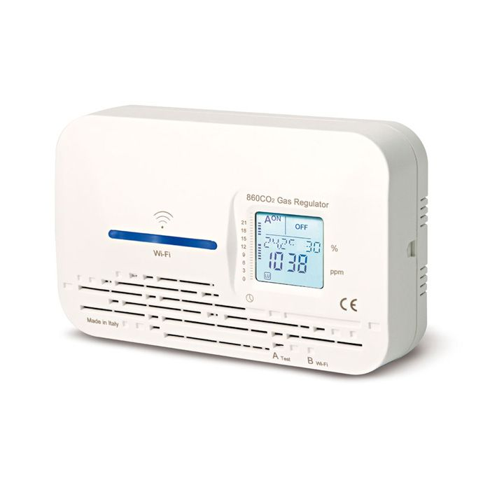 Medidor de CO2 ambiente wifi con salida relé y señal óptica AIRSURE