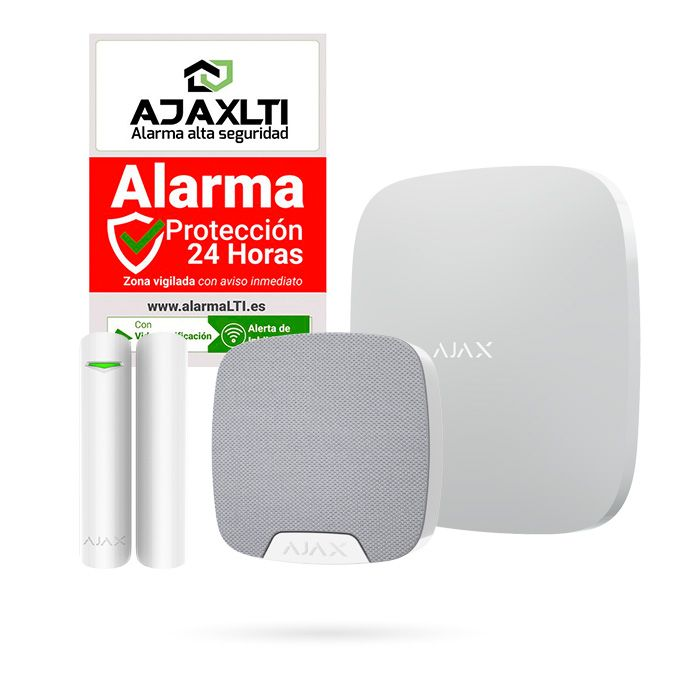 ALARMA ANTI OKUPAS del sistema Ajax con Sirena y Detector de Apertura de puertas