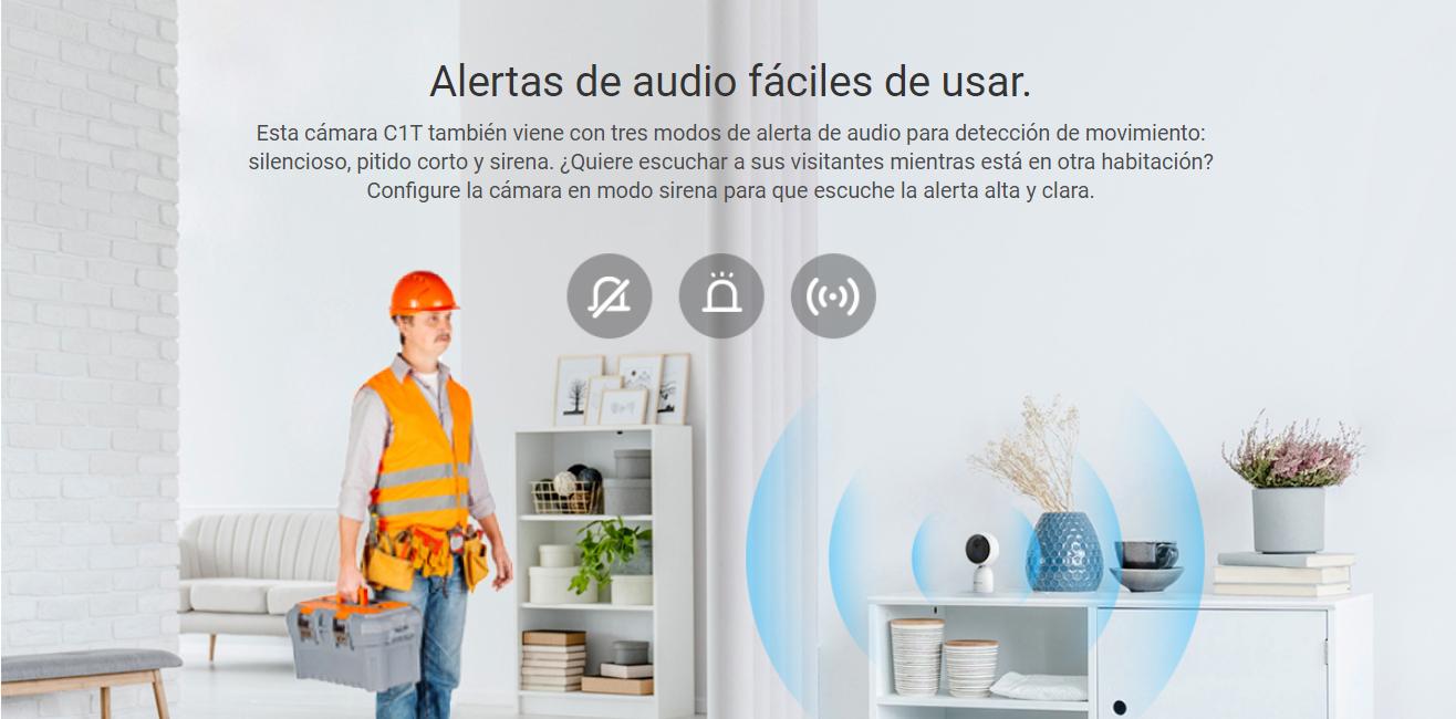 Alertas de audio fáciles de usar