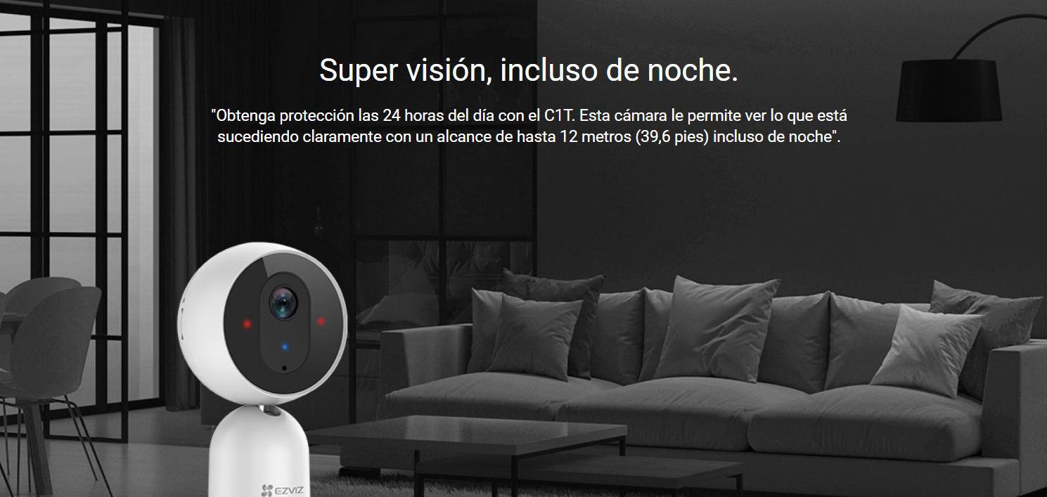 EZVIZ C1T es una cámara para casa perfecta incluso para vigilar en completa oscuridad