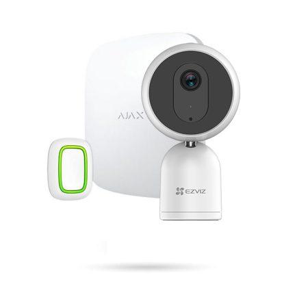 Kit de alarma para personas mayores con cámara y botón de pánico Ajax sin cuotas