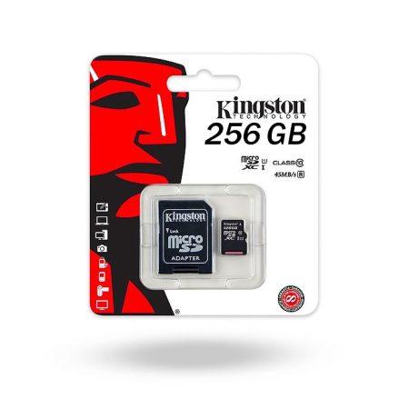 Tarjeta de memoria MicroSD 256 GB Kingston Clase 10