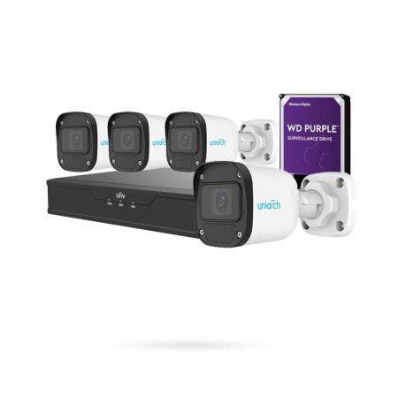 Kit 4 cámaras de vigilancia PoE con grabador y disco duro
