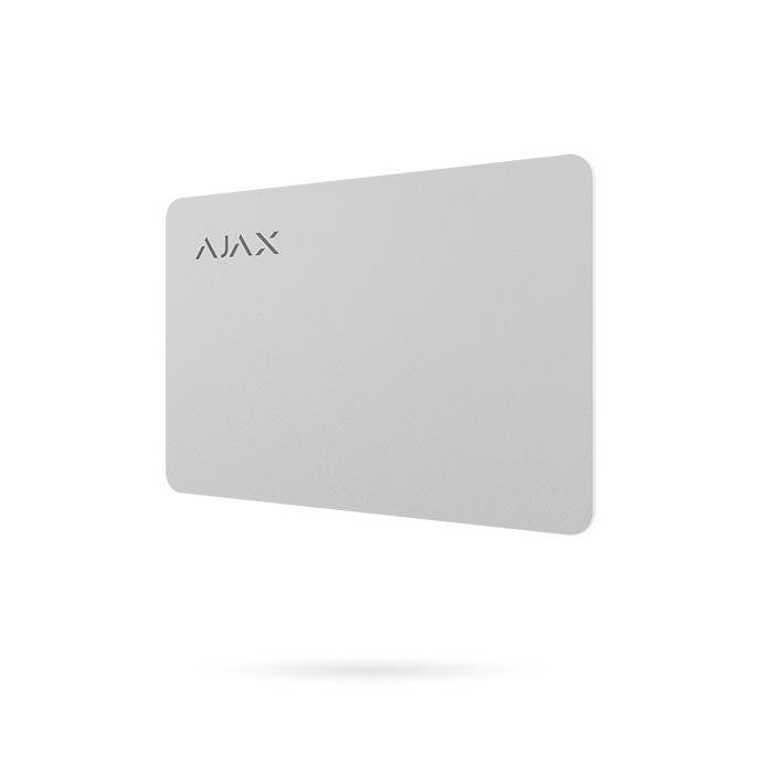 AJAX PASS tarjeta para Keypad Plus de sistema de alarma Ajax color blanco