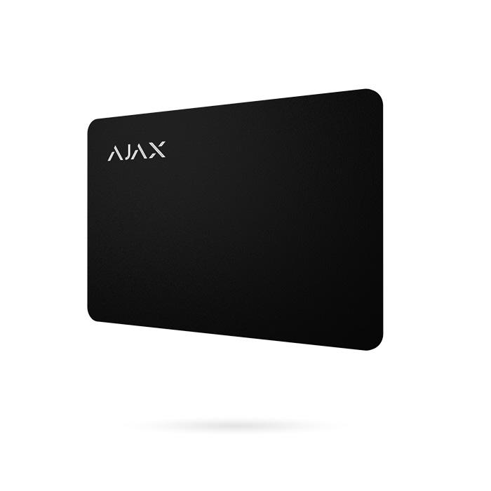 AJAX PASS tarjeta para Keypad Plus de sistema de alarma Ajax color negro